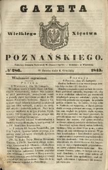 Gazeta Wielkiego Xięstwa Poznańskiego 1843.12.06 Nr286