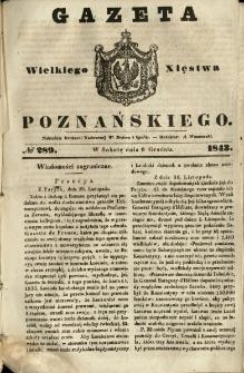 Gazeta Wielkiego Xięstwa Poznańskiego 1843.12.09 Nr289