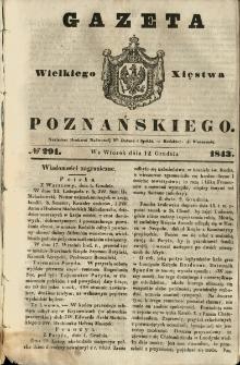 Gazeta Wielkiego Xięstwa Poznańskiego 1843.12.12 Nr291