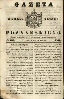 Gazeta Wielkiego Xięstwa Poznańskiego 1843.12.14 Nr293