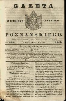 Gazeta Wielkiego Xięstwa Poznańskiego 1843.12.15 Nr294