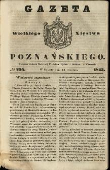 Gazeta Wielkiego Xięstwa Poznańskiego 1843.12.16 Nr295