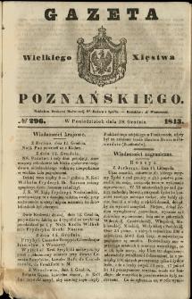 Gazeta Wielkiego Xięstwa Poznańskiego 1843.12.18 Nr296