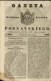Gazeta Wielkiego Xięstwa Poznańskiego 1843.12.20 Nr298