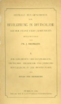 Zur Geschichte der Entwickelung deutscher, polnischer und jüdischer Bevölkerung in der Provinz Posen seit 1824