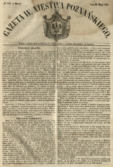 Gazeta Wielkiego Xięstwa Poznańskiego 1847.05.26 Nr119