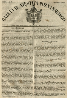 Gazeta Wielkiego Xięstwa Poznańskiego 1847.07.14 Nr161