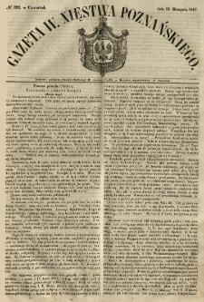 Gazeta Wielkiego Xięstwa Poznańskiego 1847.08.19 Nr192