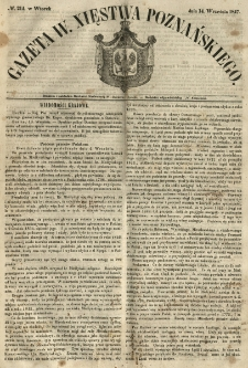 Gazeta Wielkiego Xięstwa Poznańskiego 1847.09.14 Nr214